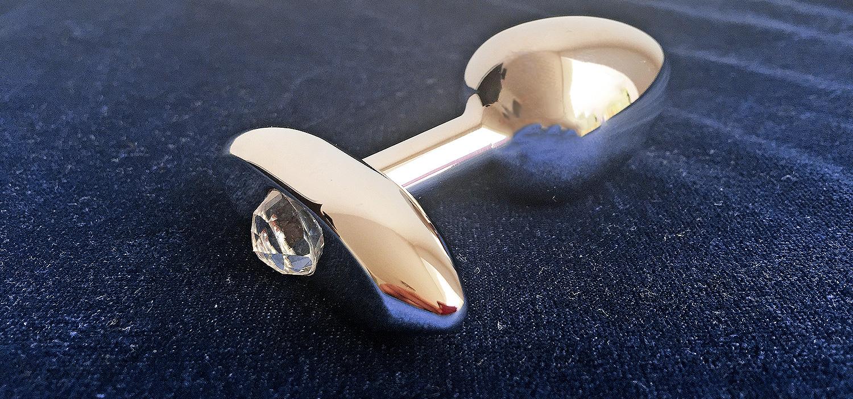 Extra large anal plug swarovski crystal